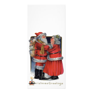 Vintage Christmas - Mr and Mrs Claus Full Color Rack Card