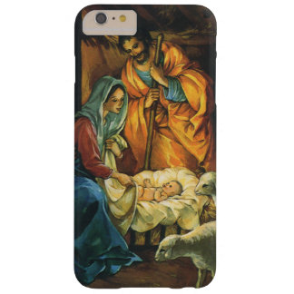 Vintage Christmas Nativity, Baby Jesus in Manger Barely There iPhone 6 Plus Case