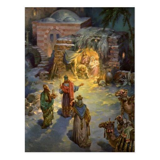 Vintage Christmas Nativity Post Cards