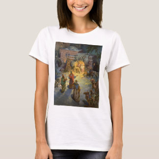 Vintage Christmas Nativity with Visiting Magi T-Shirt