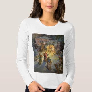 Vintage Christmas Nativity with Visiting Magi Tshirt