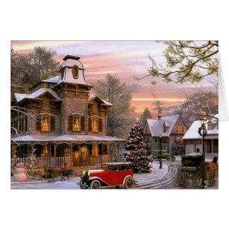 Vintage Christmas Neighborhood Card