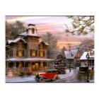 Vintage Christmas Neighbourhood Postcard