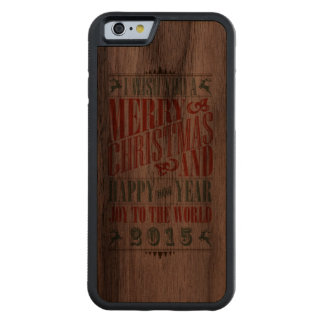 Vintage Christmas & NewYear iPhone 6 Case Carved® Walnut iPhone 6 Bumper Case