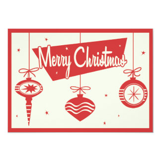 Vintage Christmas Ornaments Party Invitation