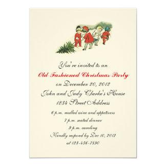 Vintage Christmas Party Invitations Christmas Tree