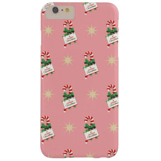Vintage Christmas Pattern, Candy Canes Barely There iPhone 6 Plus Case