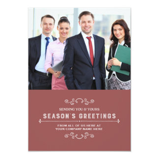 Vintage Christmas Photo Cards Business 13 Cm X 18 Cm Invitation Card
