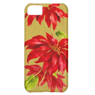 Vintage Christmas Poinsettia Cover For iPhone 5C