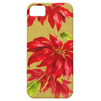 Vintage Christmas Poinsettia Case For The iPhone 5