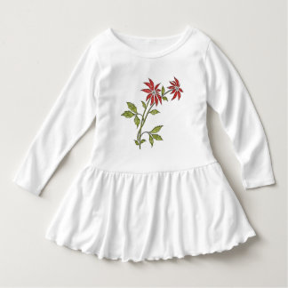 Vintage Christmas Poinsettia Dress