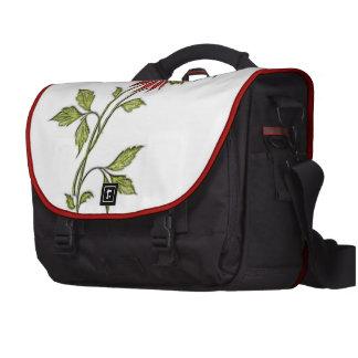 Vintage Christmas Poinsettia Laptop Bags