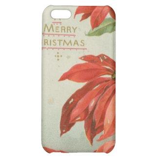 Vintage Christmas Poinsettias iPhone 5C Cases