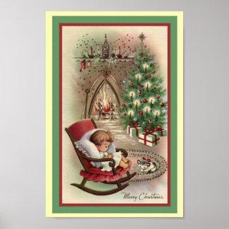 Vintage Christmas Poster
