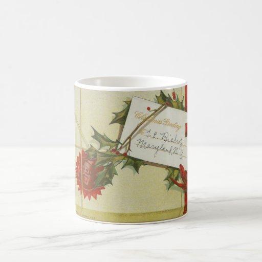 Vintage Christmas Present Basic White Mug
