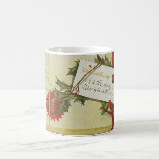 Vintage Christmas Present Coffee Mug