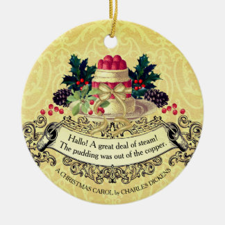 Vintage Christmas pudding food Christmas ornament