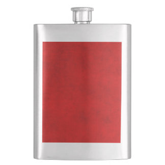 Vintage Christmas Red Parchment Personalized Hip Flask
