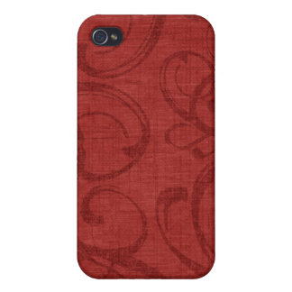 Vintage Christmas Red Victorian Case iPhone 4 Cases For iPhone 4