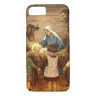 Vintage Christmas, Religious Nativity w Baby Jesus iPhone 8/7 Case