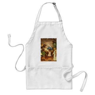 Vintage Christmas, Religious Nativity w Baby Jesus Standard Apron