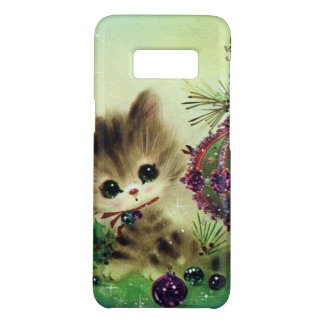Vintage Christmas retro cat Samsung S8 case