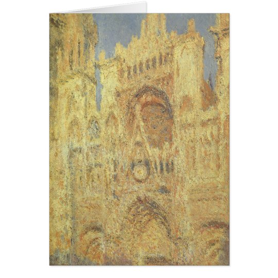 Vintage Christmas, Rouen Cathedral by Claude Monet Card