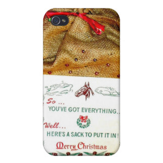 Vintage Christmas Sack Old meets new iPhone 4/4S Case