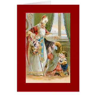 Vintage Christmas Saint Nicholas Card