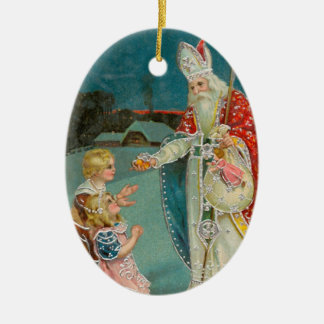 Vintage Christmas Saint Nicholas Christmas Ornament