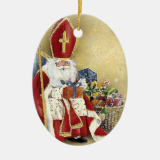 Vintage Christmas Saint Nicholas Santa Claus Christmas Ornament
