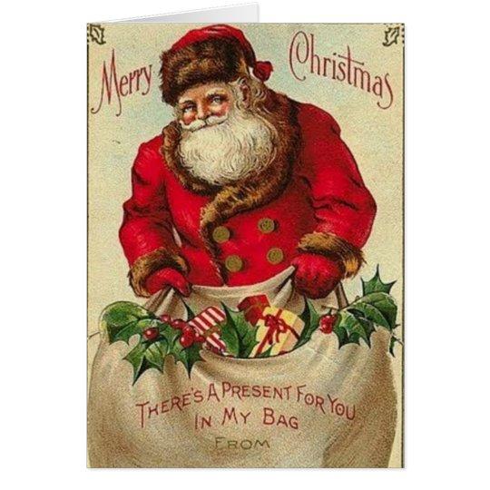 Vintage_Christmas_santa_Card Card