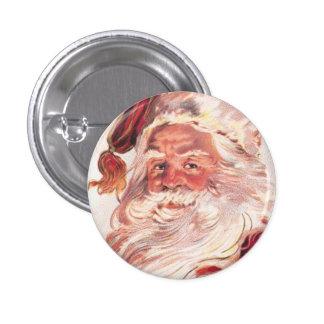Vintage Christmas Santa Claus 3 Cm Round Badge