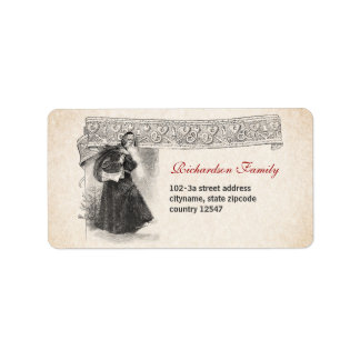 vintage Christmas Santa Claus address labels