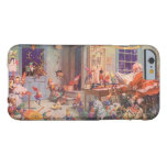 Vintage Christmas, Santa Claus and Elves Workshop Barely There iPhone 6 Case
