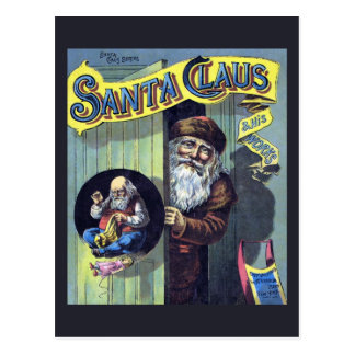 Vintage Christmas, Santa Claus and His Works Book Postcard