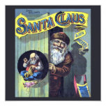 Vintage Christmas, Santa Claus and His Works Personalized Invitation