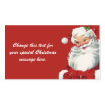 Vintage Christmas, Santa Claus Business Card Template