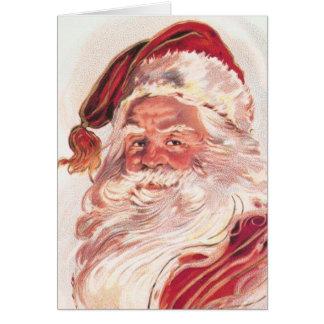Vintage Christmas Santa Claus Card