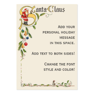 Vintage Christmas, Santa Claus Decorative Border Pack Of Chubby Business Cards