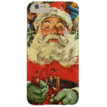 Vintage Christmas, Santa Claus Flying Sleigh Toys Barely There iPhone 6 Plus Case