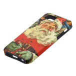 Vintage Christmas, Santa Claus Flying Sleigh Toys iPhone 5 Covers