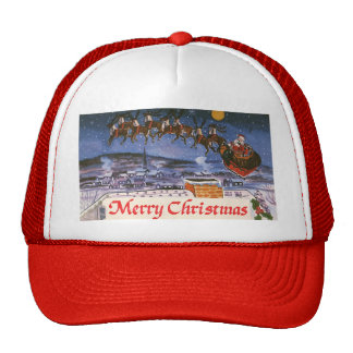 Vintage Christmas, Santa Claus Mesh Hat