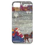 Vintage Christmas, Santa Claus Horse Open Sleigh iPhone 5 Cover