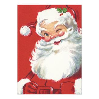 Vintage Christmas, Santa Claus Custom Announcements