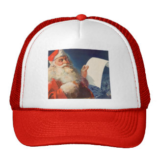 Vintage Christmas, Santa Claus Naughty Nice List Hats
