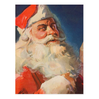 Vintage Christmas, Santa Claus Naughty Nice List Postcard