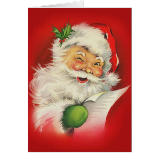 Vintage Christmas Santa Claus Note Card