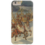 Vintage Christmas Santa Claus Reindeer Sleigh Toys Barely There iPhone 6 Plus Case