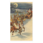 Vintage Christmas Santa Claus Sleigh with Reindeer Pack Of Standard Business Cards